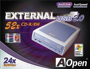 AOpen EHW-5224U: AOpen'den external USB 2.0 CD Yazıcı