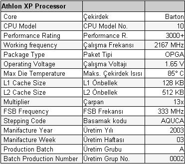 AMD Athlon işlemcinizin üzerindeki kodu çözün !
