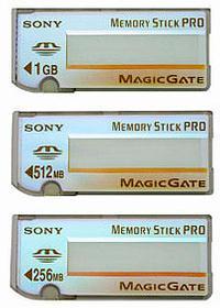 Yeni nesil Memory Stick'ler: Memory Stick PRO
