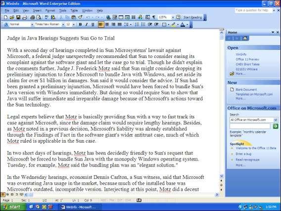 Paul Thurrot'tan Office 11 Beta 1 İncelemesi: Yeni sürüm mercek altında