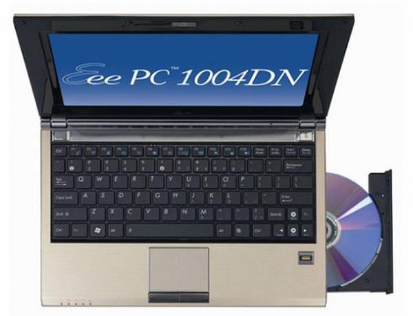 Asus optik sürücülü Eee PC 1004DN modelini satışa sundu