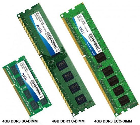 A-Data 4GB kapasiteli yeni DDR3 bellek modüllerini tanıttı