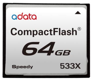 A-Data 64GB kapasiteli CompactFlash bellek kartını duyurdu