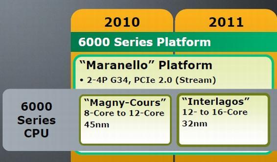 AMD: 12 çekirdekli işlemci 2010'da, 16 çekirdekli işlemci ise 2011'de geliyor