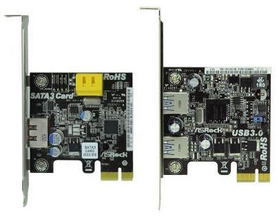 ASRock SATA 6Gbps ve USB 3.0 adaptör kartlarını duyurdu