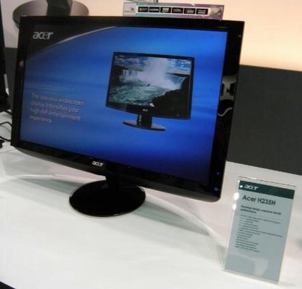 Acer 23-inç boyutundaki yeni LCD monitörünü kullanıma sunuyor