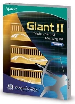Apacer hız aşırtmacılar için hazırladığı Giant II serisi DDR3 bellek kitlerini duyurdu