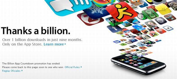 Apple: App Store'da 1 milyar indirme barajı aşıldı