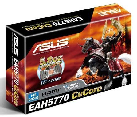 Asus özel tasarımlı Radeon HD 5770 CuCore modelini tanıttı