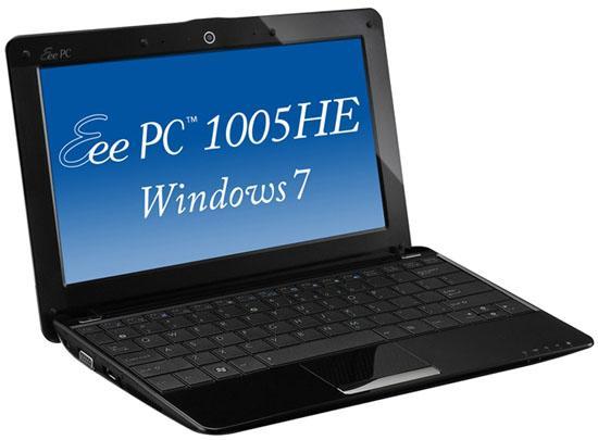 Asus'dan Windows 7'li iki yeni netbook: Eee PC 1005HR ve 1005HE