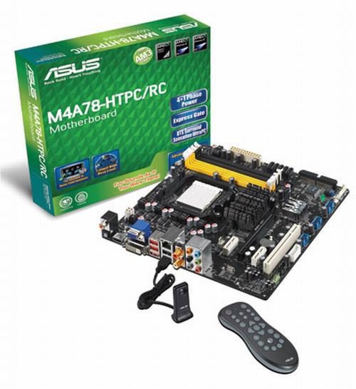 Asus'dan çoklu ortam bilgisayarları için yeni anakart; M4A78-HTPC