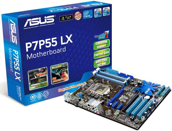 Asus ürün gamının en ucuz P55 anakartını hazırladı; P7P55 LX