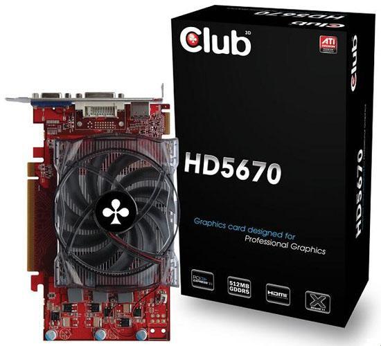 Club3D, Radeon HD 5670 temelli yeni ekran kartlarını duyurdu
