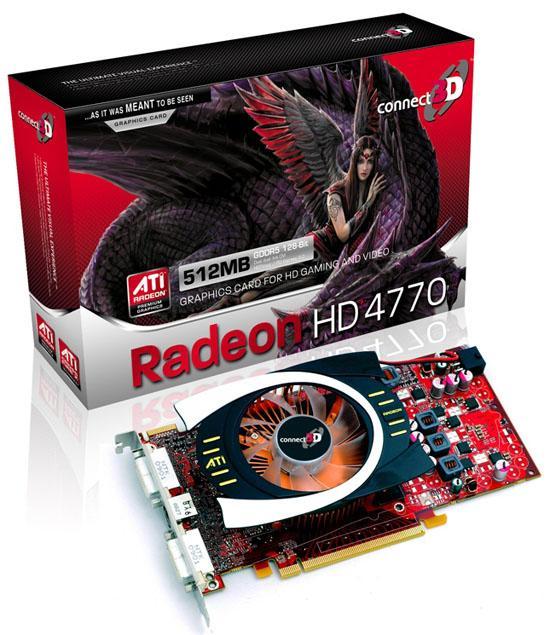 Connect3D'nin Radeon HD 4770 modeli gün ışığına çıktı
