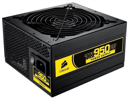 Corsair'den 950 Watt'lık yeni güç kaynağı: TX950W