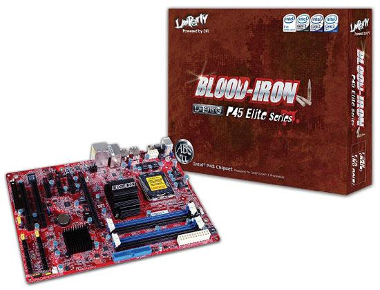 DFI'dan P45 yonga setli yeni anakart; Blood Iron P45-T2(R)S Elite