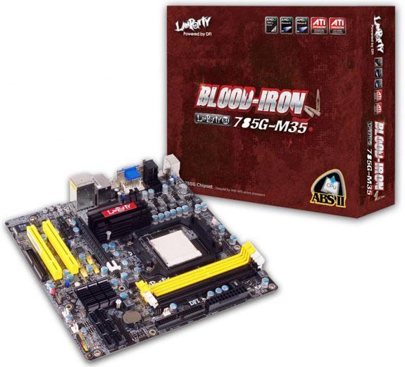 DFI'dan AMD işlemciler için yeni anakart; LANParty BI 785G-M35