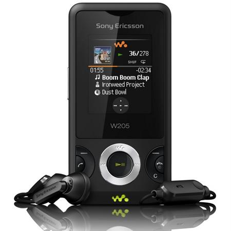 Sony Ericsson, kızaklı Walkman telefonu W205'i tanıttı