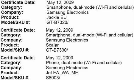 Samsung'dan üç farklı telefon yolda; B7320 - B7330 - S8003