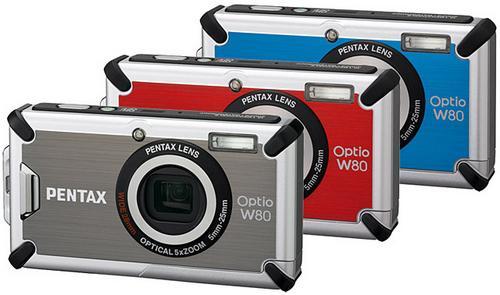 Pentax'dan suya, darbelere ve soğuğa dayanıklı kamera; Optio W80