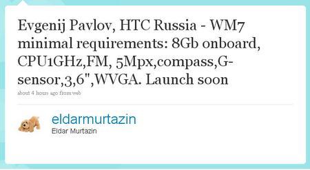 Eldar Murtazin, Twitter'da Windows Mobile 7'ye ilişkin ilginç açıklamalarda bulundu