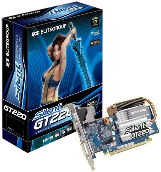 ECS'nin DirectX 10.1 destekli GeForce G210 ve GT220 modelleri hazır