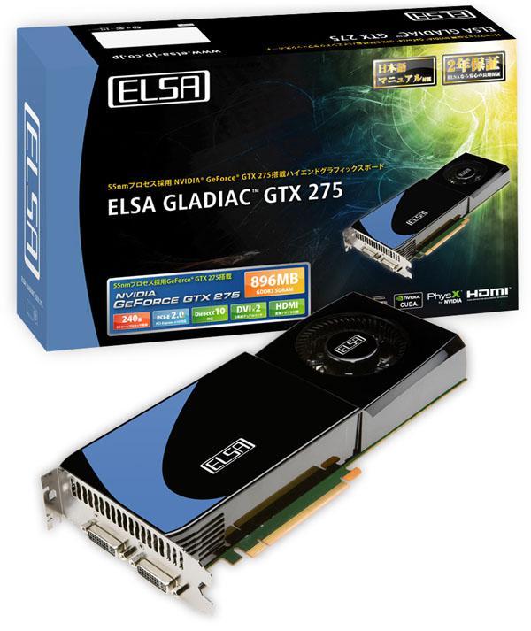 ELSA, GeForce GTX 275 modelini kullanıma sunuyor