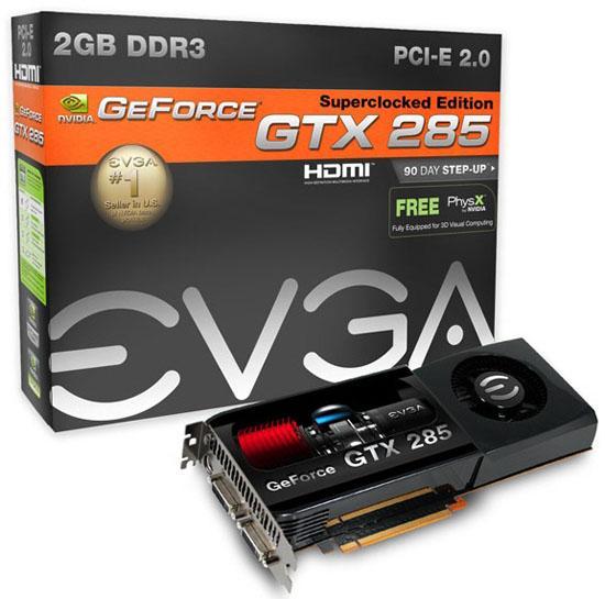 EVGA, 2GB GDDR3 bellekli iki yeni GeForce GTX 285 hazırladı