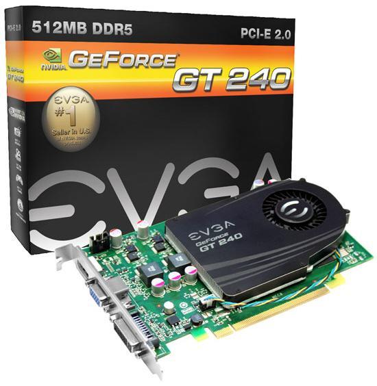 EVGA GeForce GT240 tabanlı dört yeni ekran kartı hazırladı