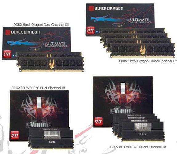 GeIL 8GB ve 16GB kapasiteli 8 yeni DDR2 bellek kiti hazırladı
