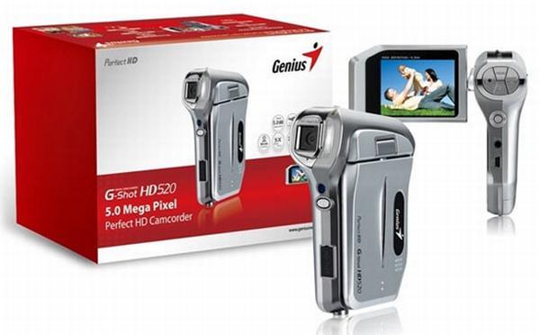 Genius'dan HD Video kaydı yapabilen ekonomik kamera; G-Shot HD520