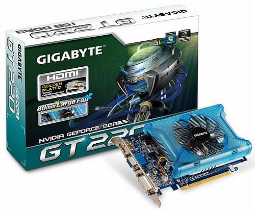 Gigabyte'dan DirectX 10.1 destekli yeni ekran kartı; GeForce GT220 OC
