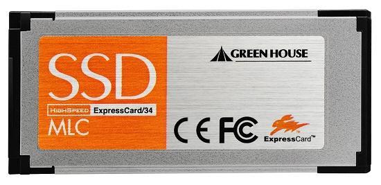 Green House'dan dizüstü bilgisayarlar için ExpressCard uyumlu yeni SSD sürücüler