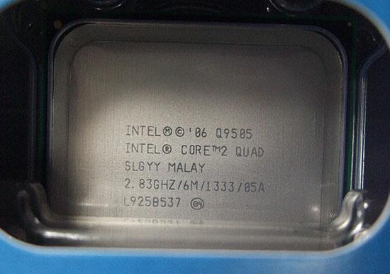 Intel'in dört çekirdekli yeni işlemcisi Core 2 Quad Q9505 Japonya'da satışa sunuldu