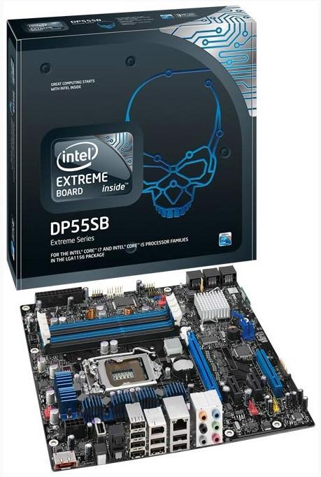 Intel P55 yonga setli microATX anakartını duyurdu; Extreme Board serisi DP55SB