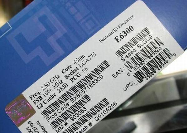 Intel çift çekirdekli Pentium E6300 işlemcisini satışa sundu