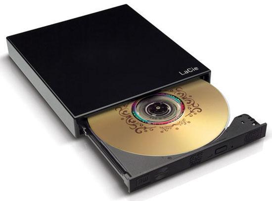 LaCie netbook'lar için hazırladığı taşınabilir DVD yazıcısını duyurdu
