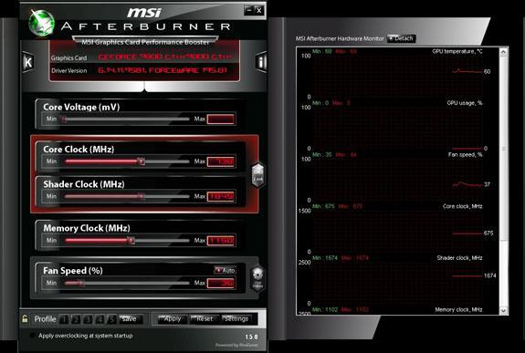 MSI ekran kartı ince ayar programı Afterburner'ın 1.5.0 sürümünü çıkardı