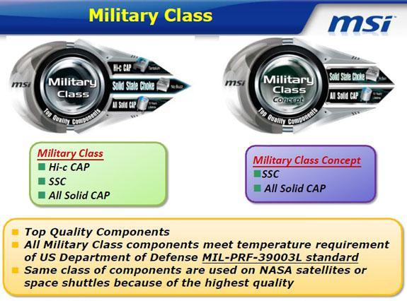 MSI özel tasarımlı 'Military Class' ekran kartlarını detaylandırdı