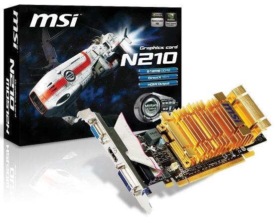 MSI pasif soğutmalı GeForce G210 modelini satışa sunuyor