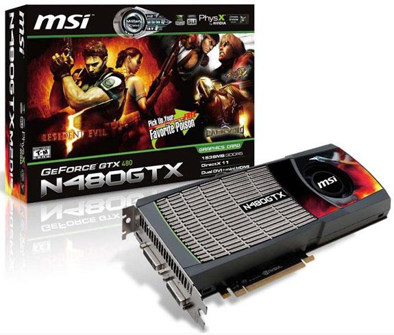 MSI GeForce GTX 470 ve GeForce GTX 480 modellerini tanıttı
