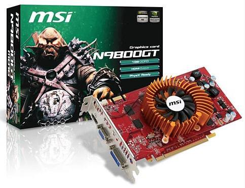 MSI düşük güç tüketimli iki yeni GeForce 9800GT hazırladı
