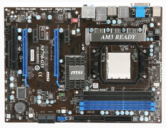 MSI'dan AMD işlemciler için SLI destekli yeni anakart; NF750-G55