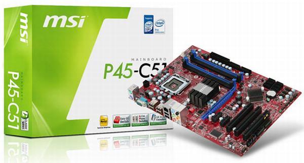 MSI'dan P45 yonga setli yeni anakart; P45-C51