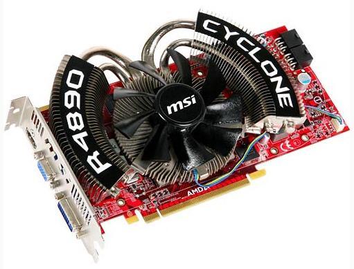MSI Cyclone serisi 1GHz'de çalışan Radeon HD 4890 SOC modelini duyurdu