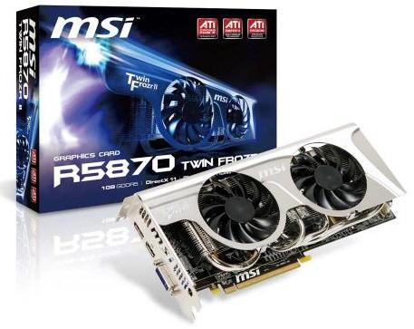 MSI, Twin Frozr II soğutuculu Radeon HD 5850 ve 5870 modellerini duyurdu