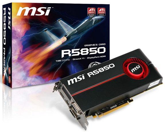MSI Radeon HD 5850 ve Radeon HD 5870 modellerini duyurdu