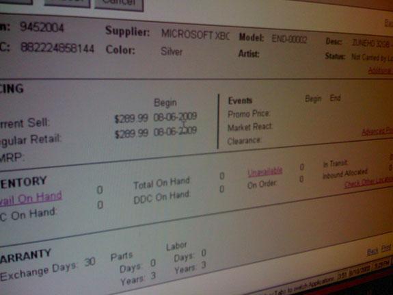 Microsoft Zune HD, 220$'dan başlayan fiyatlarla 8 Eylül'de satışa sunuluyor
