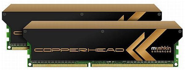 Mushkin Copperhead serisi soğutucusu özel DDR3 bellek kitlerini duyurdu