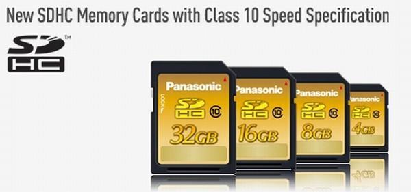 Panasonic SDHC serisi yeni bellek kartlarını kullanıma sunuyor